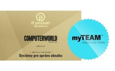 Systém pro podporu manažerské práce myTEAM získal ocenění IT produkt roku 2019